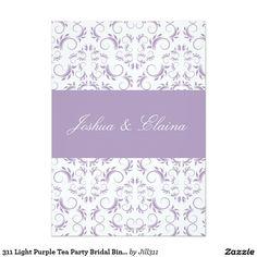 311 Light Purple Tea Party Bridal Bingo 5x7 Paper Invitation Card