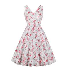 Printing Summer Women Retro Dress Sexy V neck Hepburn A-line Dress Ladies Backless Vestidos Femme Rockabilly Swing Dresses Sexy Dresses, Vintage Dresses, Summer Dresses, Prom Dresses, Rockabilly, Pin Up, Vestidos Retro, Spandex, Dress Out