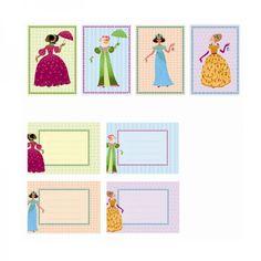Djeco Einladungskarten Kindergeburtstag Prinzessinnen mit Umschlägen - Bonuspunkte sammeln, Kauf auf Rechnung, DHL Blitzlieferung!