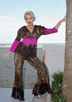 extravagantes Outfit für après beach