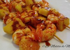 Tapas Bar, Shrimp, Seafood, Meat, Recipes, Salsa, Natural, Appetizer Recipes, Meals