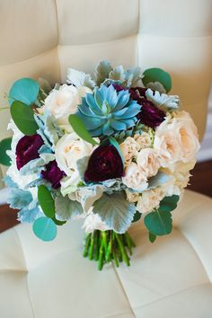 STEMS | Stephen F. Austin Wedding | Austin | Marsala | Blue | Succulents | stemfloral.com | austin.intercontinental.com | bloomaustin.com/blog