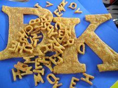 Cheezy Alphabet Crackers