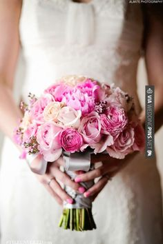 Fantastic! - Pretty Pink Bouquet @Alanté Fields | CHECK OUT MORE GREAT PINK WEDDING IDEAS AT WEDDINGPINS.NET | #weddings #wedding #pink #pinkwedding #thecolorpink #events #forweddings #ilovepink #purple #fire #bright #hot #love #romance #valentines #pinky