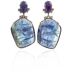 Federica Rettore Tanzanite Drop Earrings ($16,800) ❤ liked on Polyvore