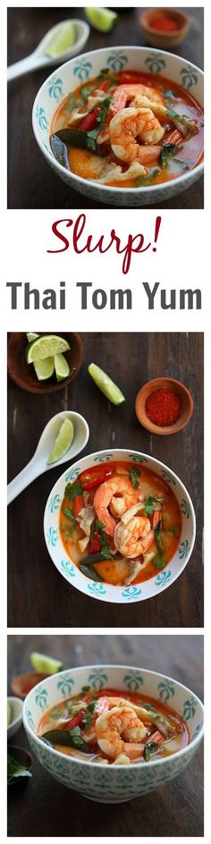BEST, easy, and the most authentic Thai Tom Yum Soup recipe that tastes straight from Bangkok. Quick and no-hassle and better than your regular Thai restaurants | rasamalaysia.com