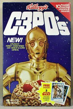 :: C3PO's Breakfast Cereal-1980s cereal box ::