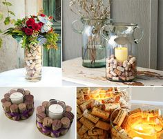 cork crafting - cork candles - super cute