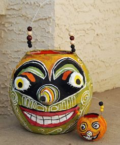 paper mache pumpkins to paint | ... short post to show you another variation of the papier mache pumpkin