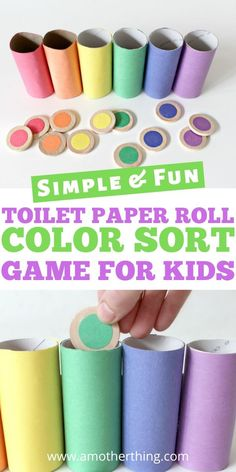 Rainbow Color Sorting Game Kid Craft