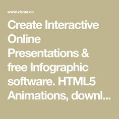 Create Interactive Online Presentations & free Infographic software. HTML5 Animations, download & Publish   Visme.