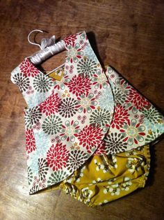 Little Girls Crossover Pinafore AND Diaper Cover - Smashed Peas and Carrots