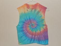 Tie dye crop top by alexgilby on Etsy, $18.00