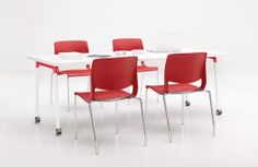 Teknion Thesis learning table. Perfect for classrooms, libraries, colleges and educational or training applications.  Create a collaborative space for group work. #apexfacility www.apexfacility.com