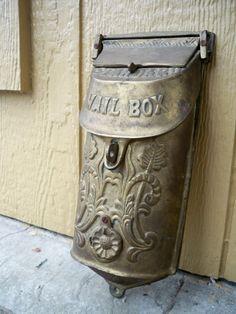 Victorian Brass mailbox