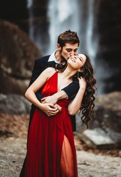 Engagement Photography Striking Waterfall Engagement Session at Toccoa Falls, Georgia Umbrella Photography, Couple Photography, Engagement Photography, Photography Poses, Engagement Photos, Engagement Session, Photography Essentials, Country Engagement, Fall Engagement