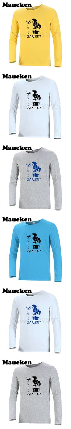 Long Sleeve Men Argentina Javier Zanetti 4 inter Captain Legend T-Shirt Clothes milan T Shirt Men's Autumn Winter W17101215