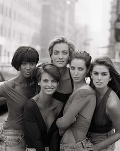 Naomi Campbell, Linda Evangelista, Tatjana Patitz, Christy Turlington, Cindy Crawford