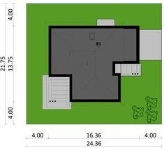 DOM.PL™ - Projekt domu PJK Ka34 CE - DOM GW1-42 - gotowy koszt budowy Dom, Floor Plans, Floor Plan Drawing, House Floor Plans