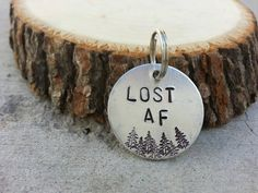 Lost AF Hand Stamped Personalized Dog Tag