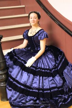 1860s ball gown | from Quinn Burgess
