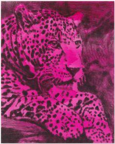 Magenta Leopard Strahlend by Jiri Georg Dokoupil Magenta, Original Artwork, Spiderman, Superhero, Artist, Prints, Painting, Spider Man, Artists