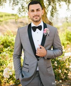 Classy Men Suit For Wedding Tuxedos Groom Outfit One Button Slim Fit Men Formal Party Tuxedo 2 Piece Suit (Jacket+Pants+Bow) Black Prom Suits, Prom Suits For Men, Black Tie Attire, Mens Suits, Best Wedding Suits, Wedding Men, Wedding Tuxedos, Wedding Attire, Tweed Wedding