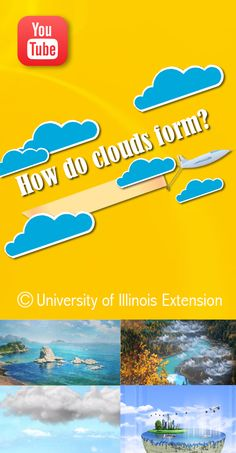 """Short, educational weather video: """"How do clouds form?"""" #lessons #teacher"""