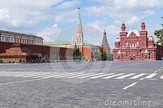 Red Square in Moscow on a clear summer day