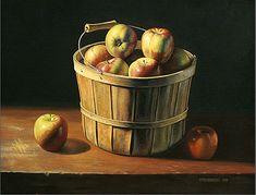 David Stevenson | OIL | Basket of Apples