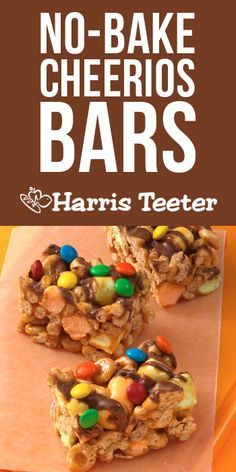 Harris Teeter - No-Bake Caramel Cheerios® Bars. It doesn't get any easier than this! This one will satisfy that sweet tooth!