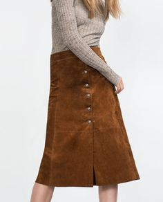 Image 3 of LEATHER SKIRT from Zara