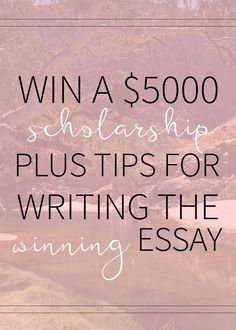 Scholarships are the bread and butter for so many students when it comes to paying for college. Check out this $5000 scholarship opportunity plus my best essay tips! #FinanceCollege