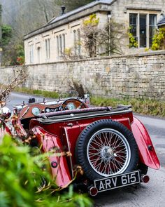 Vintage car in the Cotswolds, England