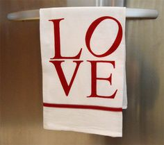 Love Sculpture Applique Towel tutorial || the seasoned homemaker