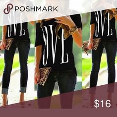 🖤 Cute Black&White Top🖤 🖤Cute Black & White Top. Short sleeve, off the shoulder on one side. Unfinished hem. Size small/medium Tops Tees - Short Sleeve