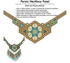 Persia Necklace Panel | Bead-Patterns