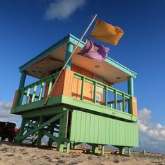 a514272013b9  miami  southbeach  florida  lifeguard  hut  beach  sunset South Beach