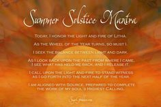 Summer Solstice Mantra