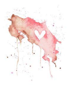 Costa Rica heart art