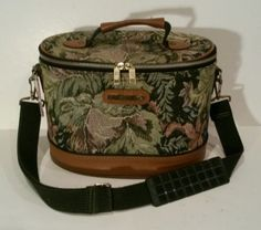 Vintage 1970s American Tourister Tapestry Train Case Makeup Luggage Bag