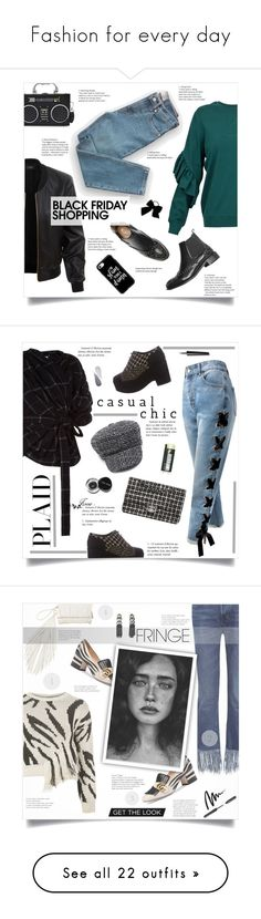 """""""Fashion for every day"""" by smajlovicelvira ❤ liked on Polyvore featuring Dondup, LE3NO, Everlane, Casetify, Torrid, A.W.A.K.E., Sans Souci, Chanel, Bobbi Brown Cosmetics and Reebok"""
