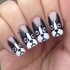 dogs by glairdees #nail #nails #nailart