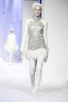 A fierce, sexy snow queen  Moncler Gamme Rouge RTW F/W 2013