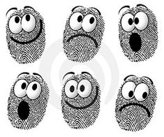 Illustration about An illustration featuring a silly group of fingerprints with cartoon-like faces smiling, sad, and surprised. Illustration of graphics, fingerprint, face - 4433688 Art For Kids, Crafts For Kids, Arts And Crafts, Paper Crafts, Diy Crafts, Fingerprint Crafts, Finger Art, Thumb Prints, Footprint Art