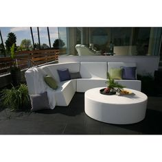16'' H x 48'' W x 36'' D - All-weather premium yacht vinyl upholstery - Oval Ottoman at AllModern - With Great Deals on modern Outdoor products and Free Shipping on most stuff, even the big stuff.