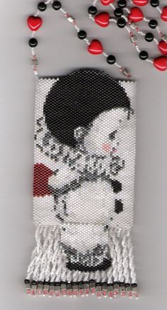 Little Clown Beaded Amulet Bag by seesbeyond on Etsy, $200.00