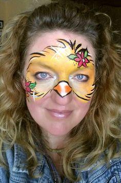 Easter face-painting idea, quick-chic www.beautifulfacepaint.com