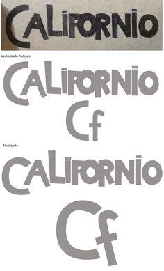 Nombre: Californios Mareria: Fundamentos Tipograficos Año: 2016 Programa Adobe: Illustrator (Ai) Temática: Con la palabra clave crear el consepto, Pesado y Magnetico.