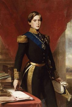 Portrait of Pedro V, King of Portugal Franz Xaver Winterhalter, 1854 Franz Xaver Winterhalter, History Of Portugal, Thurn Und Taxis, Rainer Maria, Ages Of Man, Men In Uniform, Kaiser, Portuguese, Great Artists